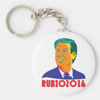 Marco Rubio President 2016 Republican Retro Basic Round Button Key Ring