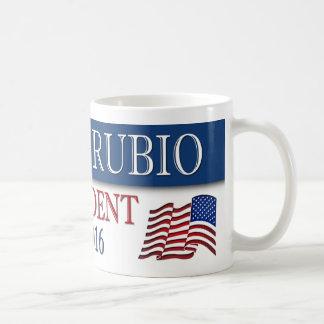 Marco Rubio President 2016 USA Flag Basic White Mug