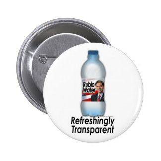 Marco Rubio Water, Refreshingly Transparent 6 Cm Round Badge