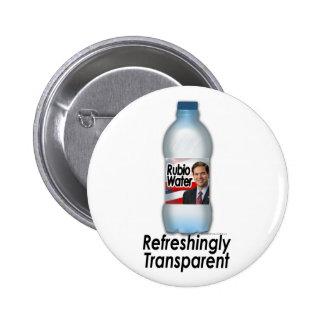 Marco Rubio Water, Refreshingly Transparent 6 Cm Round Badge