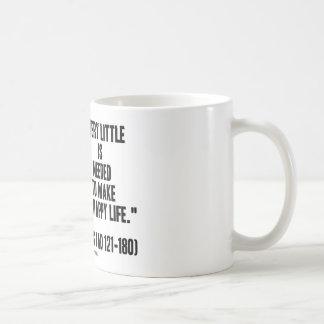 Marcus Aurelius Very Little Needed Make Happy Life Coffee Mug