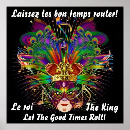 Mard Gras Theme The King 40 X40  Please View Notes Print