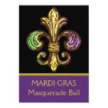 Mardi Fleur de Gras 13 Cm X 18 Cm Invitation Card
