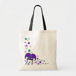 Mardi Gra Mask and Stars Tote Bag