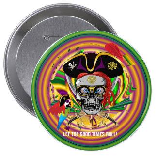Mardi Gras 10 Cm Round Badge
