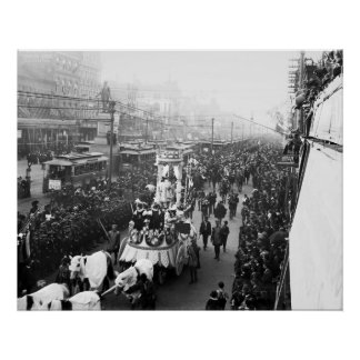 Mardi Gras, 1900 Poster