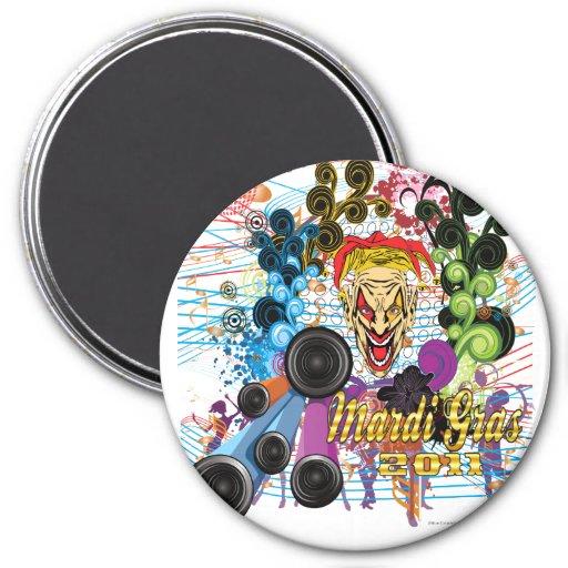 Mardi-Gras 2011 The Joker II Magnets