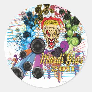 Mardi-Gras 2011 The Joker II Round Sticker