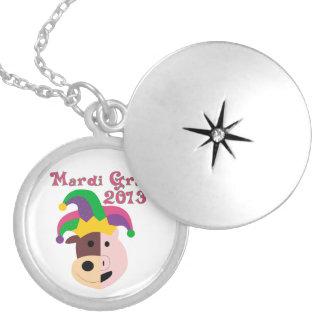 Mardi Gras 2013 Tees & Memorabilia Round Locket Necklace