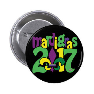 Mardi Gras 2017 Button