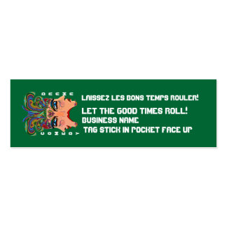 """Mardi Gras 3"""" x 1"""", Skinny cards View Hints Double-Sided Mini Business Cards (Pack Of 20)"""