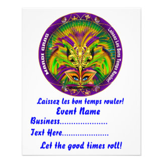 "Mardi Gras 4.5"" x 5.6"" Please View Notes 11.5 Cm X 14 Cm Flyer"