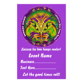 "Mardi Gras 5.5"" x 8.5""  Please View Notes Personalized Flyer"