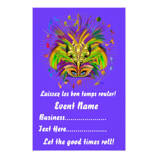 "Mardi Gras 5.5"" x 8.5""  Portrait View Notes Please Custom Flyer"