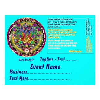 """Mardi Gras  8.5"""" x 11"""" Landscape Please View Notes 21.5 Cm X 28 Cm Flyer"""
