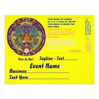 "Mardi Gras  8.5"" x 11"" Landscape Please View Notes Personalized Flyer"