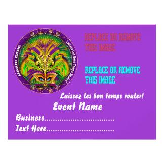 "Mardi Gras 8.5"" x 11"" Please View Notes Custom Flyer"