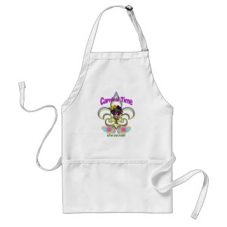Mardi Gras apron-Carnival Time Standard Apron