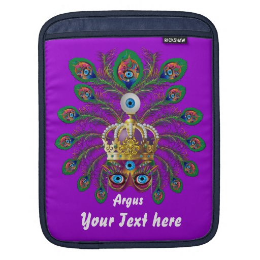 Mardi Gras Argos-Argus Eyes Important view notes Sleeves For iPads