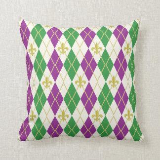 Mardi Gras Argyle Pillow