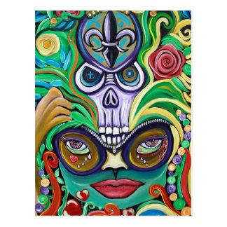 Mardi Gras Art Post Card
