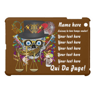 Mardi Gras Award Plaque Gift notes view iPad Mini Cover