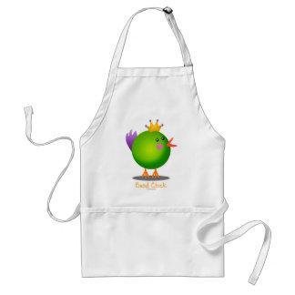 Mardi Gras Bead Chick (green) Apron
