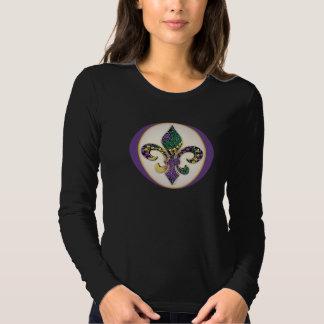 Mardi Gras Bead Fleur de lis Tee Shirts