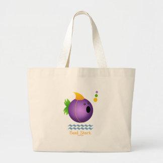 Mardi Gras Bead Shark (purple) Jumbo Tote Bag
