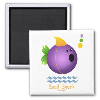 Mardi Gras Bead Shark (purple) Magnets