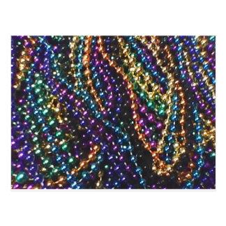 mardi gras beads 2 postcard