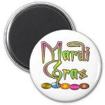 Mardi Gras Beads Apparel Refrigerator Magnet