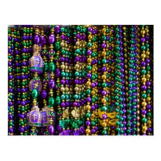 Mardi Gras Beads Postcards