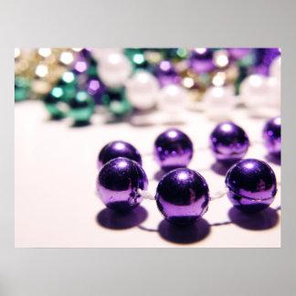 Mardi Gras Beads Poster