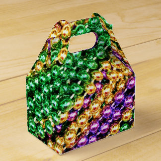 Mardi Gras Beads Wedding Favour Box