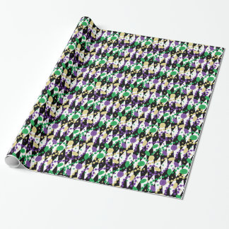 Mardi Gras Beads Wrapping Paper