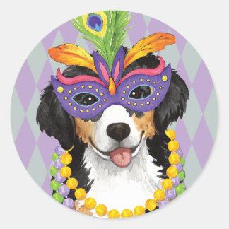 Mardi Gras Berner Classic Round Sticker