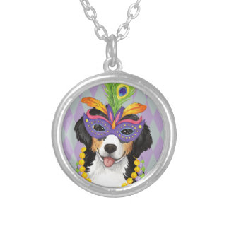 Mardi Gras Berner Silver Plated Necklace