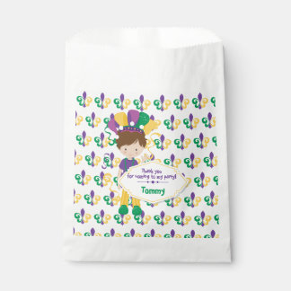 Mardi Gras Birthday Party For Boy Favour Bags