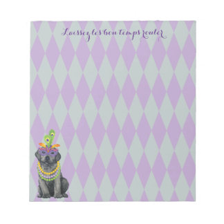 Mardi Gras Black Lab Notepads