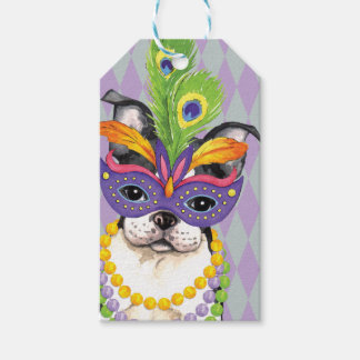 Mardi Gras Boston Terrier Gift Tags