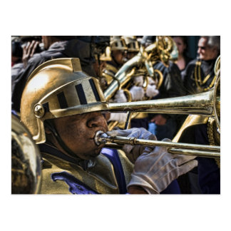 Mardi Gras Brass Band Postcard