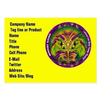 Mardi Gras Business Horz. Please View Hints Business Card Template