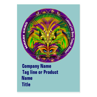 Mardi Gras Business Vert. Please View Hints Business Card Templates