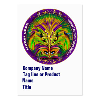 Mardi Gras Business Vert. Please View Hints Pack Of Chubby Business Cards