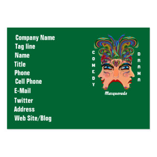 Mardi Gras Carnival Event  Please View Hints Business Card Template