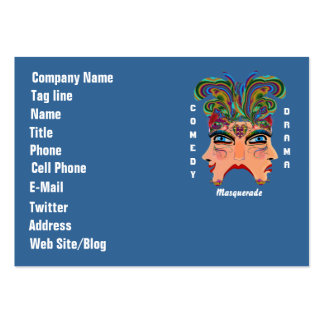 Mardi Gras Carnival Event  Please View Hints Large Business Cards (Pack Of 100)