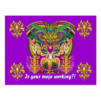 Mardi Gras Carnival Event  Please View Hints Postcard