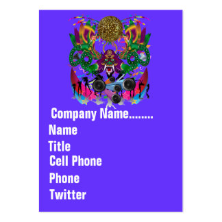 Mardi Gras Carnival Event  Please View Notes Business Card Templates