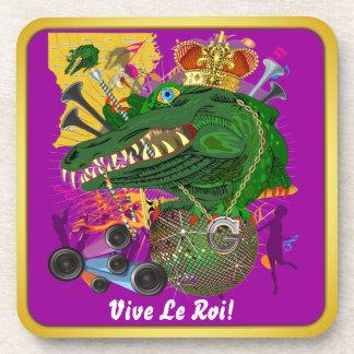 Mardi Gras Carnival Event Please View Notes Beverage Coaster